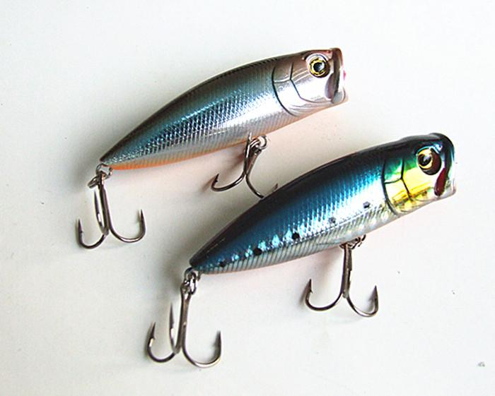 8g 5.5cm Fishing Tackle Fishing Lure Poper Lure Hard Plastic False Bait Floating type China hook