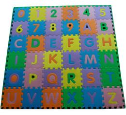 Canada Bébé enfant nourrisson nouveau-né enfants chambre pépinière ABC lettres alphabet chiffres EVA mousse jouer tapis de sol carrelage puzzle éducatif puzzle rampant Offre
