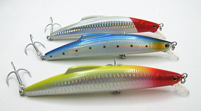 14cm 30g Fishing lure Minnow Bait Fishing tackle Big Game Lure Sea Fishing lure Hard Plastic False bait Deep Swim Bait VMC Hook Sinking type