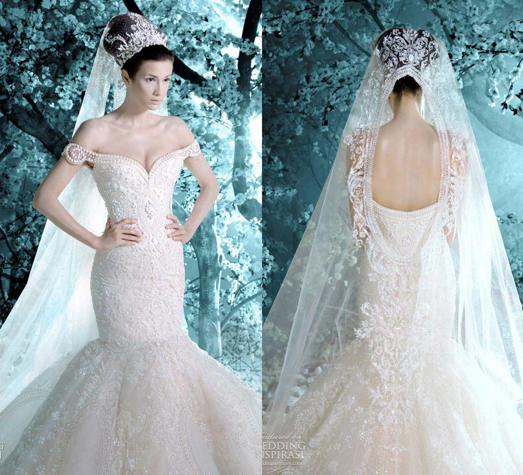 Charming 2016 Luxury Wedding Dresses Off Shoulder Appliques Mermaid ...