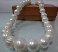 collares de perlas del mar del sur barroco al por mayor-Nueva joyería fina perla genuina inmenso mar 20