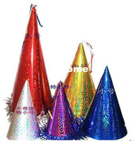 Wholesale Cock Free Sales - Hot Sale Festival masquerade party party supplies birthday cap cocked hat carnival cap 50pcs lot Free Shipping