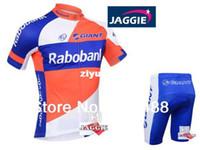 Wholesale Rabo Bank - 2013 NEW!Free shipping+PAD+Polyester+2013 RABO BANK bicycle apparel Cycling wear bikes wear short sleeve jersey+shorts XS-4XL