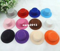 Wholesale Diy Fascinator Hats - 5.5cm 60pcs lot Free Shipping Hen Party Plain Mini Top Hat. Cute Hat for DIY Hair fascinator. 12 colors