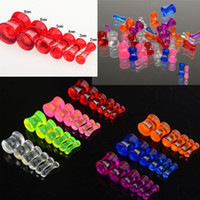 Wholesale Ear Tunnel Tapers - Fashion 84pcs Mix Lots Acrylic Solid Ear Taper Ear Plug Stretch Gauge Jewelry [BC113(12)*7]