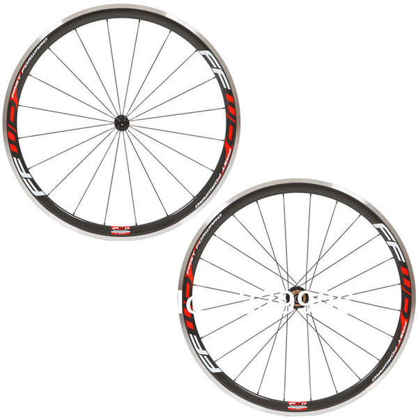 38 MM Kırmızı Ffwd F4R Alüminyum Fren Kırmızı Kattığı Bisiklet Tekerlekler Karbon Fiber Yarış Bisiklet Tekerlek PARLAK / MAT