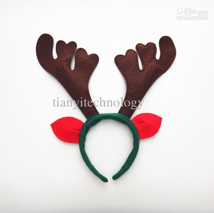 Reindeer Antlers Ears Headband Christmas Kids/ Adult Costume ...