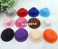 Wholesale Mini Party Top Hats - 5.5cm 60pcs lot Free Shipping Hen Party Plain Mini Top Hat. Cute Hat for DIY Hair fascinator. 12 colors