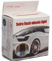 Wholesale Solar Car Wheels - Solar Car Wheel LED Light 4colors option: red blue green colorful With Retail Box