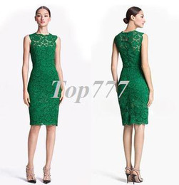 Wholesale Green Dresses For Work - 2015 fashion new party dresses for women round neck sleeveless back bow women lace dress