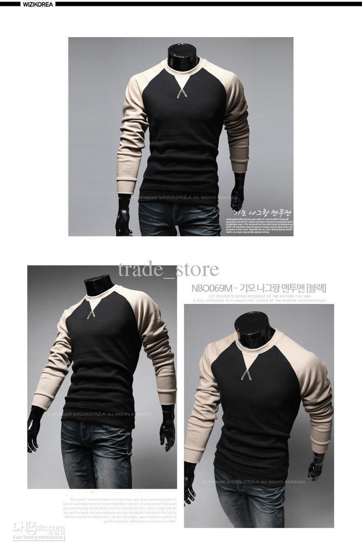 秋の男性ポロTシャツファッション男性Tシャツ長袖人気のTシャツスタイリッシュなカジュアルカジュアルTシャツプルオーバー男性服M9