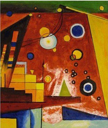 Wholesale Kandinsky Abstract Paintings - Free shipping reproduction by Kandinsky ,abstract New canvas art, decoration painting, Wall decoration (Gift Oil Painting) P19
