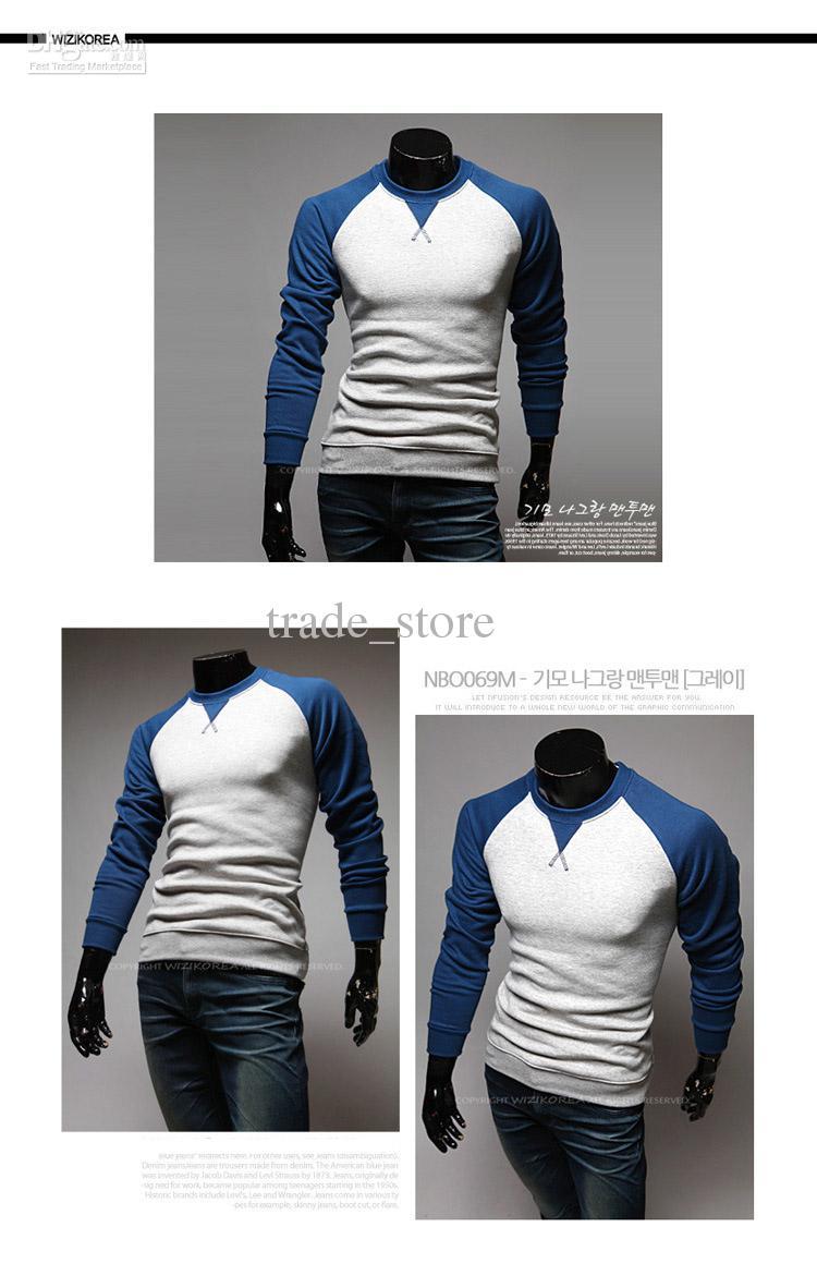 Herbst neue heiße Männer POLO-T-Shirt Mode für Männer T-Shirts Langarm-dünnes T-Shirt stilvolle beiläufige T-Shirts für Männer PULLOVER M9