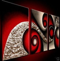 Black White And Red Wall Art cheap large wall canvas red black white | free shipping large wall