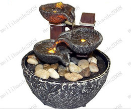 Wholesale Rock Led Lights - Indoor Water Fountain With Led Lights Coast Tiered Rock Bowl Fountain Beautiful Arts and Crafts MYY6761
