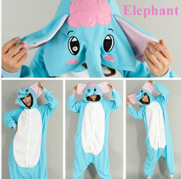 Wholesale Elephant Adult Pajamas - New Hot Sale Lovely Cheap Kigurumi Pajamas Anime Cosplay Costume Unisex Adult Onesie Blue Elephant Dress Sleepwear Halloween S M L XL