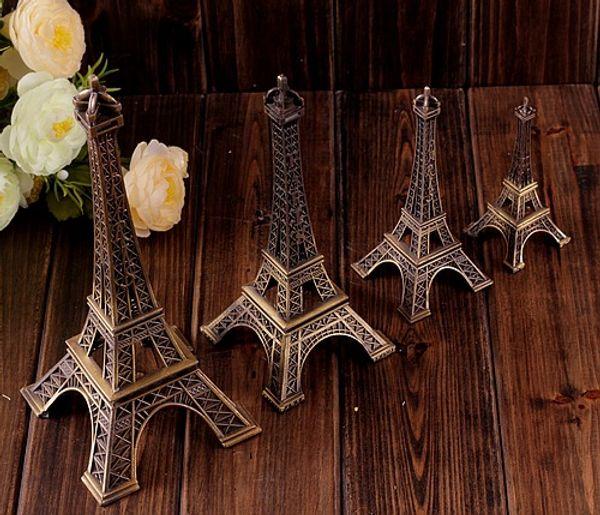 top popular 5cm 8cm 15cm Vintage Design Home Decoration Supplies 3D Paris Eiffel Tower Metallic Model Bronze Color Craft Wedding Gift Shooting Prop 2019