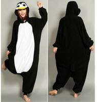 Wholesale Cheap Onesie Dress - New Lovely Cheap Black Penguin Kigurumi Pajamas Anime Pyjamas Cosplay Costume Unisex Adult Onesie Dress Sleepwear Halloween S M L XL