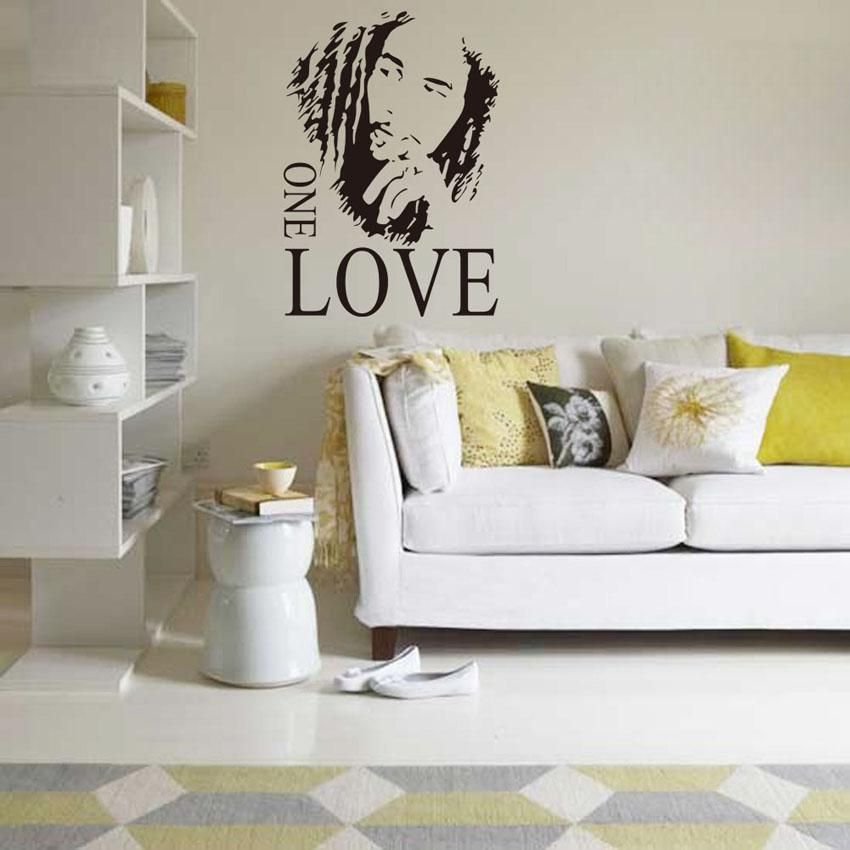 Removable Wall Art johnny depp portrait removable wall sticker decal mural art modern