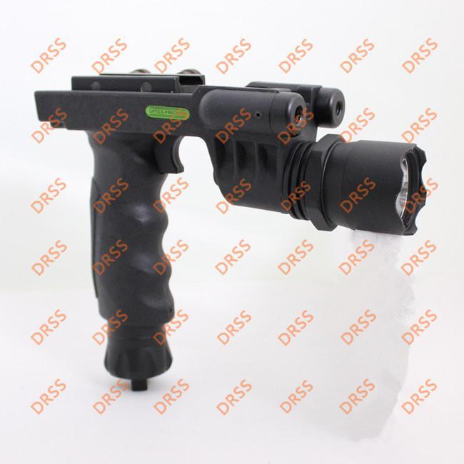 Drss Tactical Grip mit Taschenlampenkopf und grünem Laser für die Jagd