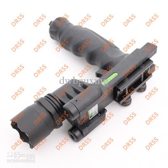 Drss Tactical Grip con linterna y láser verde para cazar