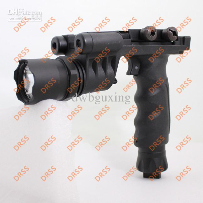 Drss Tactical Grip with Flashlight Head and Green Laser For Hunting