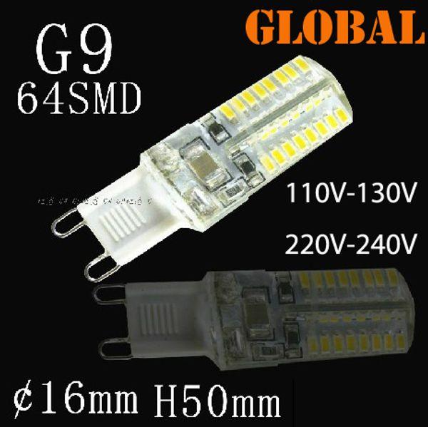 best selling G9 LED Lights SMD 3014 3W 110V-130V 220V-240V Replace 30W halogen lamp 360 Beam Angle LED Bulb lamp Candle chandelier light High Power