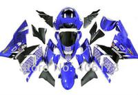 ninja motorrad kits großhandel-Freies Verschiffen, 04 05 zx10 Verkleidungen für Kawasaki Ninja ZX10R Verkleidungssatz 2004 2005 blaue ELF Sport-Motorrad-Verkleidungen