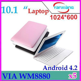 "Wholesale 1g 8g Laptop - DHL 5PCS 2013 Hot New 10.1"" inch Android 4.2 Mini laptop 1G 8G Dual Core CPU WM8880 1.5GHZ Laptop Notebook WIFI Christmas GIFT ZY-BJ-3"