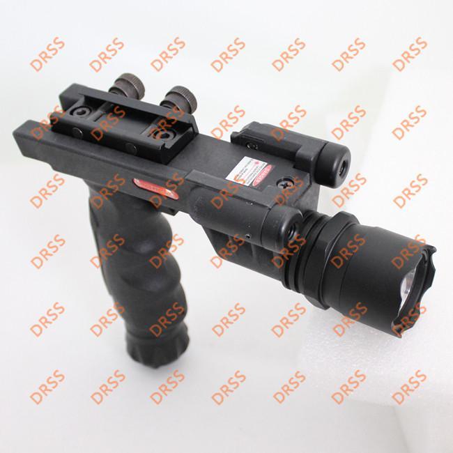 Poignée tactique Drss avec tête de lampe de poche et laser rouge pour la chasse