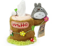 Wholesale Tissue Holders Retail - Retail 1pcs Unique Design Cute Tissue Box Holder soft plush towel tube free shipping new Arrival