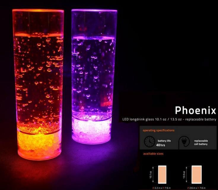 Envío gratis plástico líquido activo LED Long Drink vidrio 300 ml, plástico LED vidrio, LED vaso intermitente vidrio LED taza de vidrio bebida para el partido