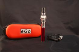 Wholesale Ego Zipper Set - Hotting!! eGo electronic cigarette kits glass tank Globe Wax Atomizer 650 900 1100mah battery e cigarettes kit Zipper Carrying case DHL Free