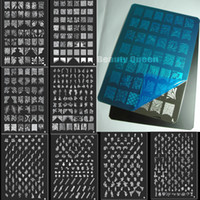 Wholesale xl image plates stamping nail art for sale - Group buy BIG Designs Style XXL Nail Art Stamping Plate Stamp Image Plates XL Stencil Print Template Transfer Polish French Flower Tattoo DIY L T