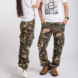 Wholesale Camouflage Cotton Pants Women - Hottest women army fatigue baggy pants cargo pants sports wear mens camouflage cargo trousers for hiking&camping 87