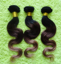 Wholesale Virgin Indian Hair 1b 33 - High quality 2013 New hair New arrival ombre color #1b#33#27 3tone colors 100% virgin indian remy human hair extensions DHL free shipping
