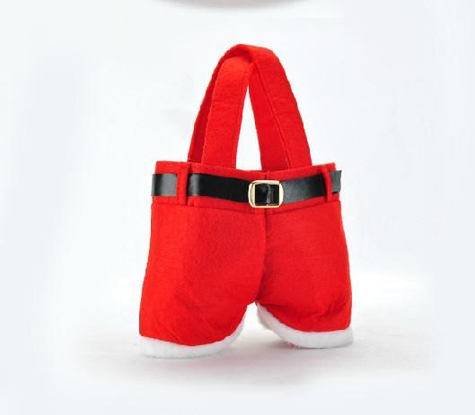 Новые брюки Santa Bag Bag Elf Style Рождественские Creative Decorations Favors Candy Box свадьба Xmas Новый год подарочные сумки Санты Шорты Шорты