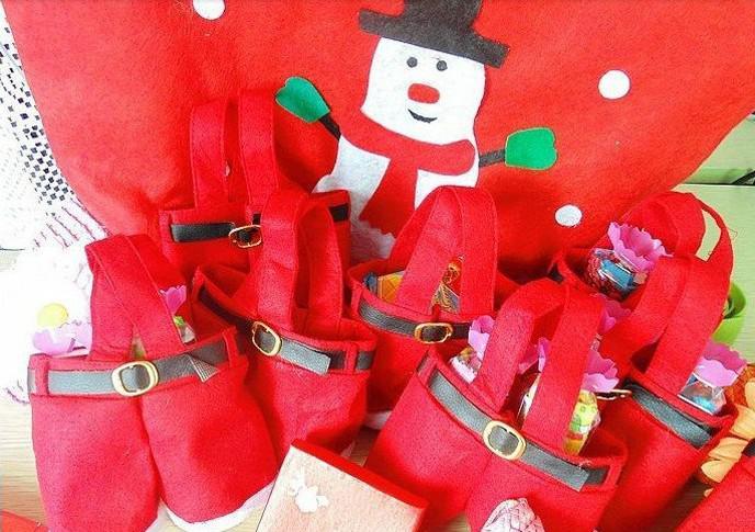 New Santa Pants Bag Elf Style Christmas Creative Decorations Favors Candy Box Wedding Xmas New Year Gift Bags Santa Straps Shorts Bag