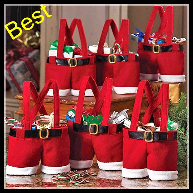 new santa pants bag elf style christmas creative decorations favors