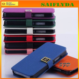 Wholesale Iphone5c Wallets - Flip Wallet Leather Case Cover Credit ID Card Holder Deluxe D Word Buckle for iphone5c 5s iphone 5c 4 4s 5 Samsung Galaxy S4 S3