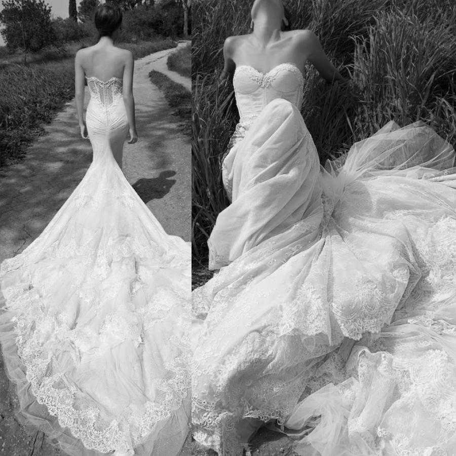 Inbal Dror Wedding Gowns: Inbal Dror Mermaid Sexy Wedding Dresses Romantic