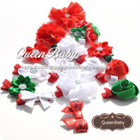Wholesale Wholesale Orders Hair - Trial Order Christmas hairbow - Girls Christmas Hair clip - Christmas headband - baby christmas - hair bow 50pcs lot Mix