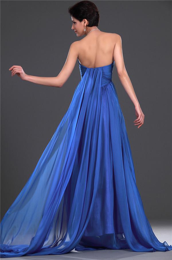 Elegante por encargo Royal Blue Sweetheart Fruncido Imperio Vestido de noche Vestidos formales Vestidos de fiesta Vestido de maternidad
