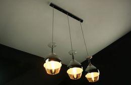 Wholesale Goblet Lamp - Creative Wineglass Goblet Chandelier Ceiling Lights Pendant Lamp 1or3 Lights