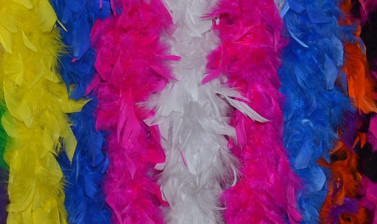 Frete grátis por atacado 200 cm / pcs Boas de Pluma 40gram Chandelle Pena Boas Marabu Boa de Penas para decoração