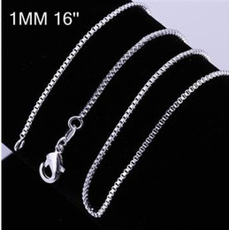 """Wholesale Wholesale 18 Sterling Snake Chain - - 100PCS   1MM 18' 20"""" 925 Sterling Silver Smooth Snake Chain Necklace hot sale Fit pendant"""