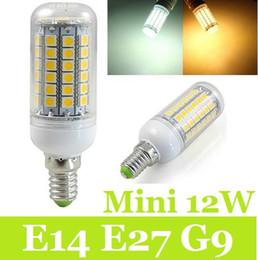 Wholesale e14 led cob corn bulb - Best G9 E14 Led Bulbs Light 1000 Lumen 12W 69pcs 5050 SMD Led Corn Lights 360 Angle Warm Pure White AC 220-240V CE ROHS