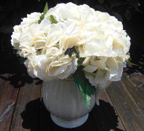 "32cm/12.6"" Length Artificial Flowers Simulation Single Painting Shells Hydrangea Silk Flowers Home Wedding Decoration"