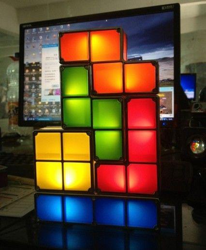 Short Description. Christmas Gift Fashion Tetris Stackable LED Desk Lamp ...