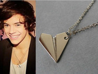Wholesale One Direction Infinity Necklaces - Wholesale - 1D One Direction Paper Plane Necklaces Fens Infinity Necklace FOREVER DIRECTIONER 3 colors